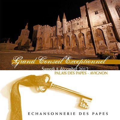Grand Conseil Exceptionnel de l'Echansonnerie des Papes - Samedi 8 Décembre 2012