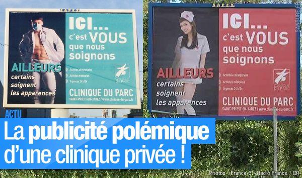 La publicité polémique d'une clinique privée ! #CliniqueDuParc