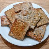 Crackers au sésame, au pavot et à la nigelle