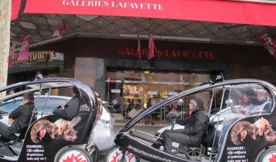 Les anti-fourrure font les soldes à leur façon à Paris