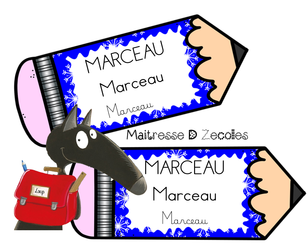 Etiquettes prénoms pour casiers