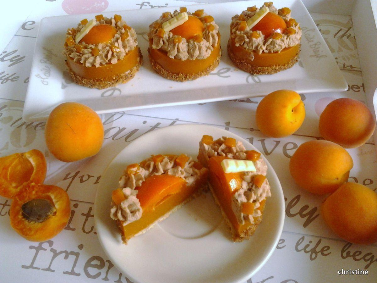 Entremets abricots et praliné