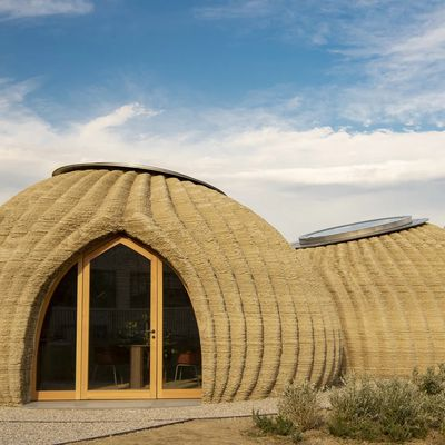 This is the first house to be 3D printed from raw earth