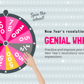 Wheel of resolutions by nathaliepledran on Genial.ly