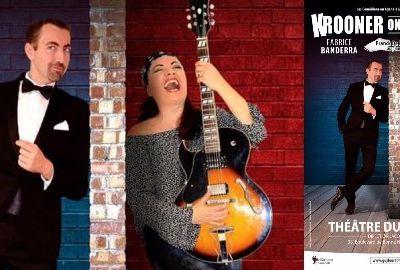krooner on the rocks, un spectacle musical avec les comédiens chanteurs lucy harrison et fabrice banderra