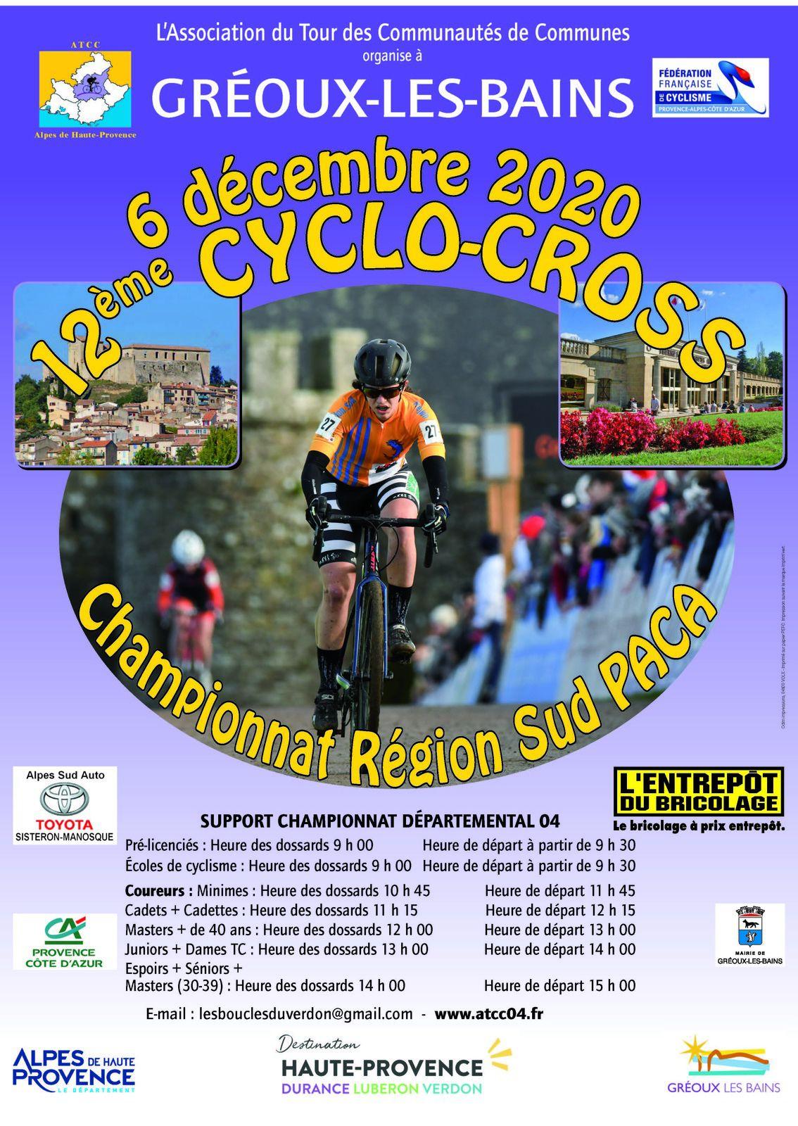 Cyclos-cross de Gréoux les Bains le 6 décembre 2020