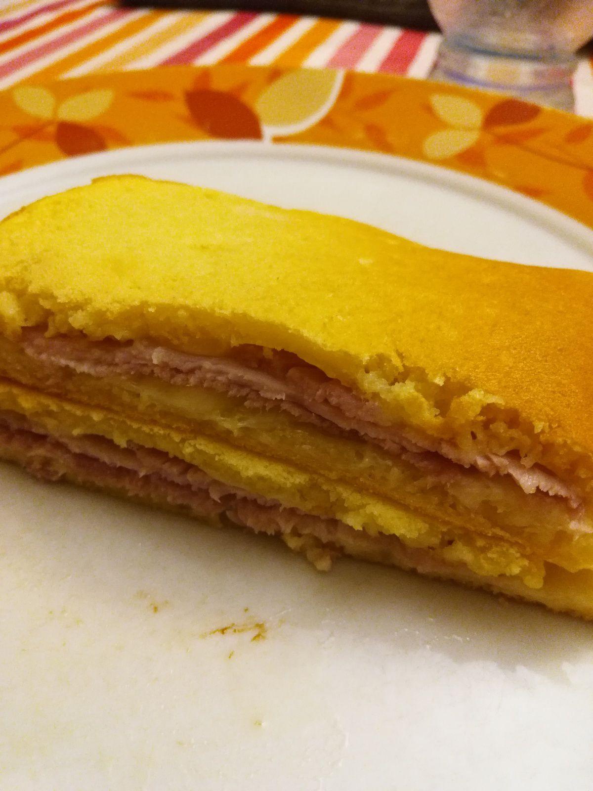 pancakes façon croque monsieur