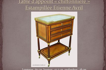 Table d'appoint estampillée E. Avril