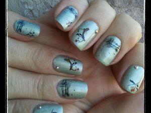 Nail art printemps avec les WD Née Jolie....