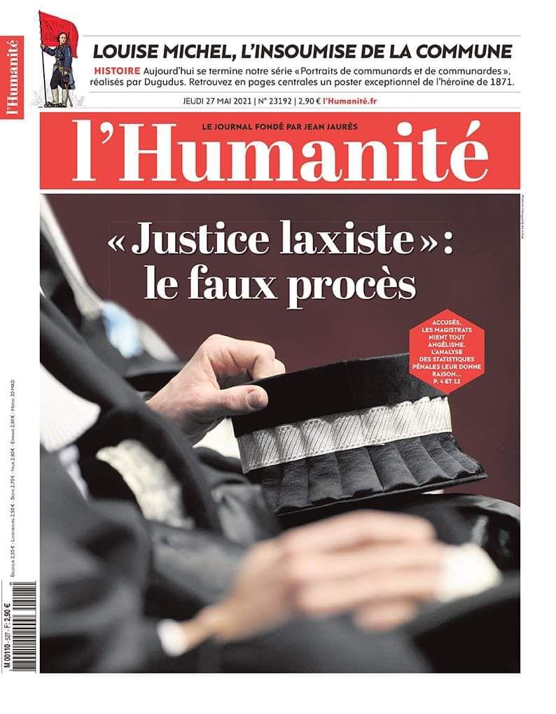 A la une de l'Humanité (27-05-21)