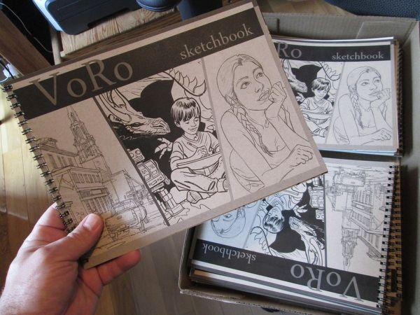 Nouveau : Sketchbook (carnet de croquis) VoRo !