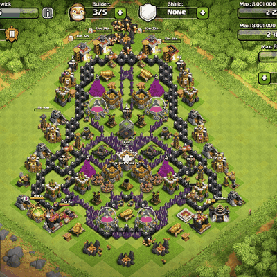 Clash of Clans : le village Dark Vador