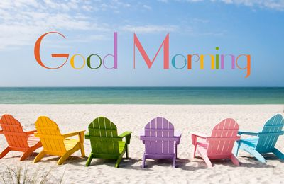 Good Morning - Plage - Chaises - Wallpaper - Free