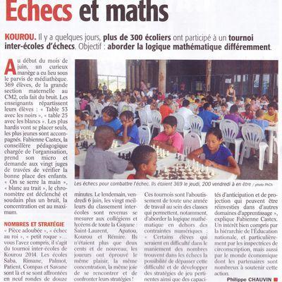 300 chaises blanches à la Médiathèque : record de Guyane !
