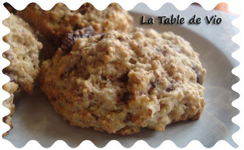Cookies pomme chocolat