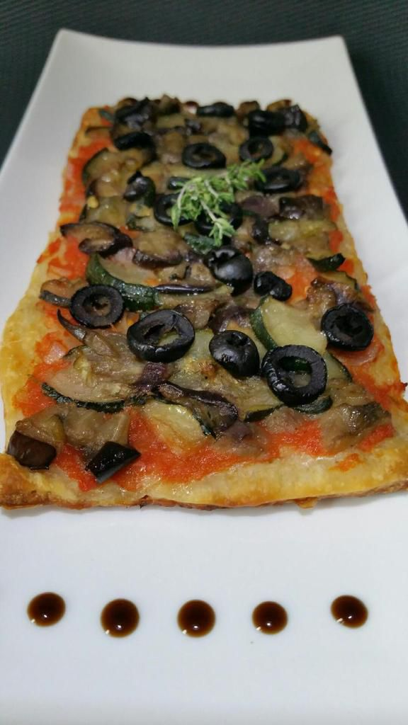 pizza courgette aubergine