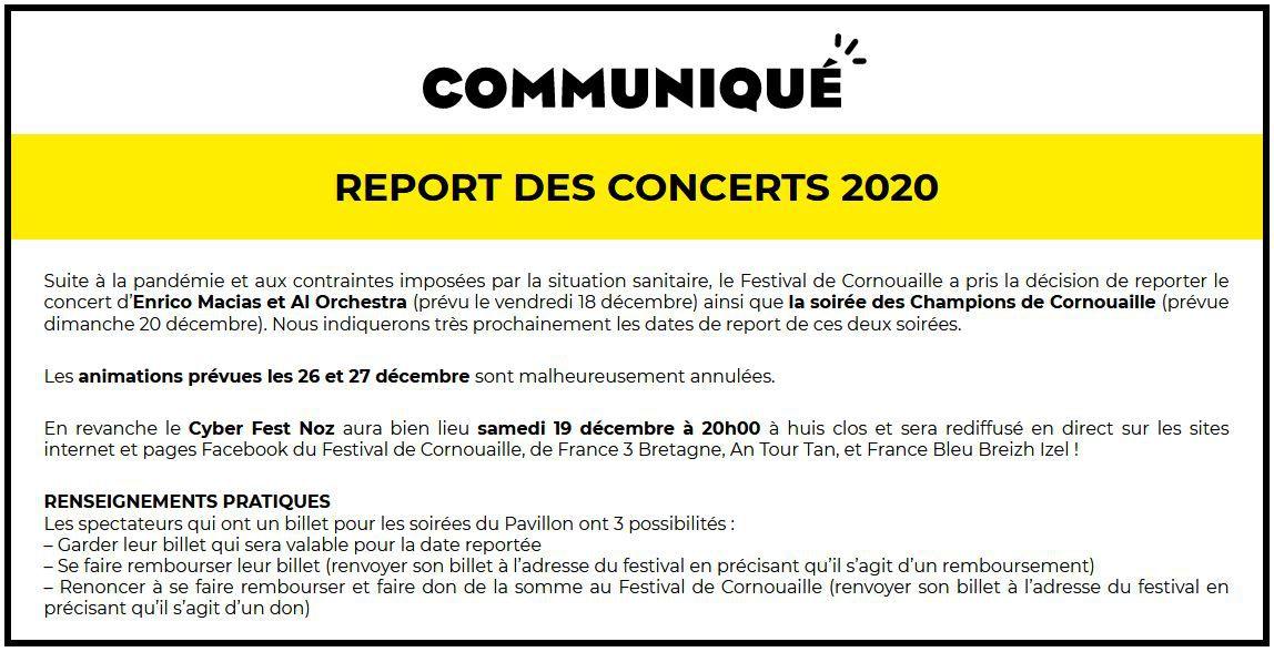 Le communiqué du Festival