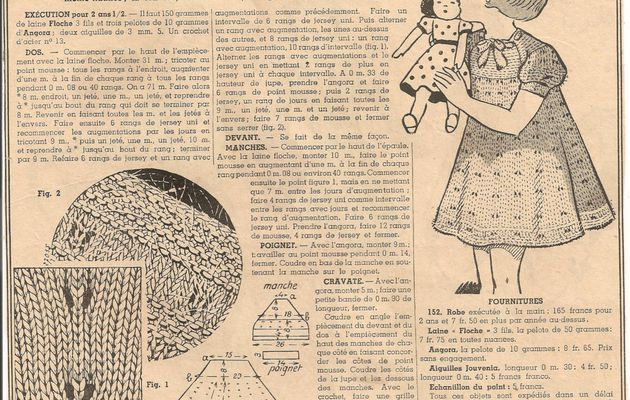 Robe au tricot fillette 2 à 3 ans (mise à jour article de 2012)