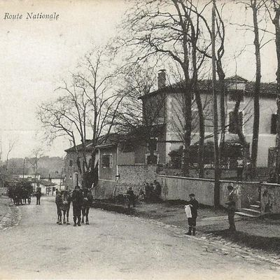 ONDRES. La route nationale 1910/1920.
