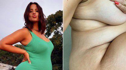 Enceinte Ashley Graham partage une autre photo de nu