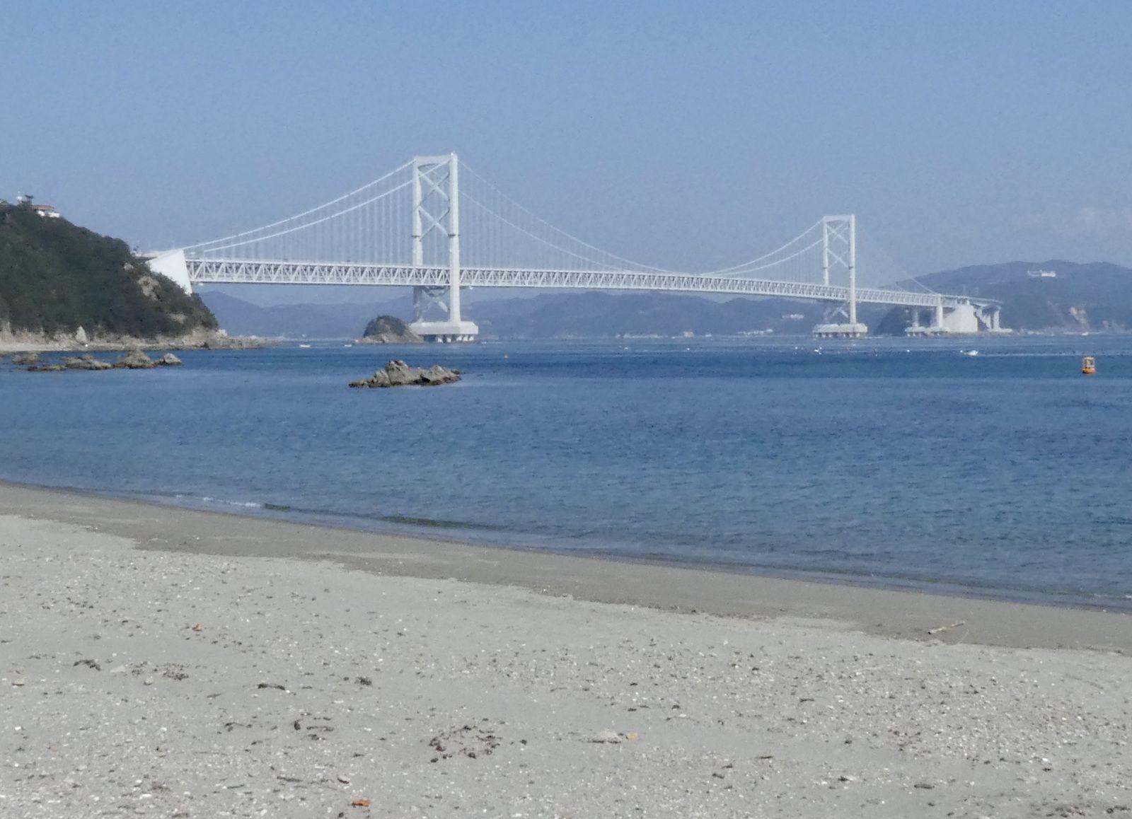 Le pont suspendu de Naruto, depuis Shikoku