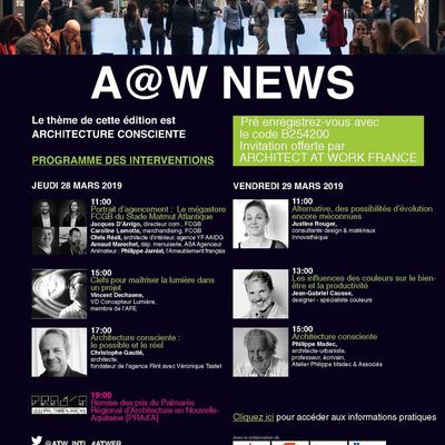 ARCHITECT @WORK, Bordeaux 28 et 29 mars
