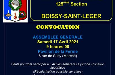 ASSEMBLEE GENERALE 125ème.SECTION - BOISSY-SAINT-LEGER