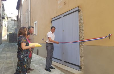 """Entrevaux : INAUGURATION """"REMISE HENRY"""" - SALLE D'EXPOSITION."""