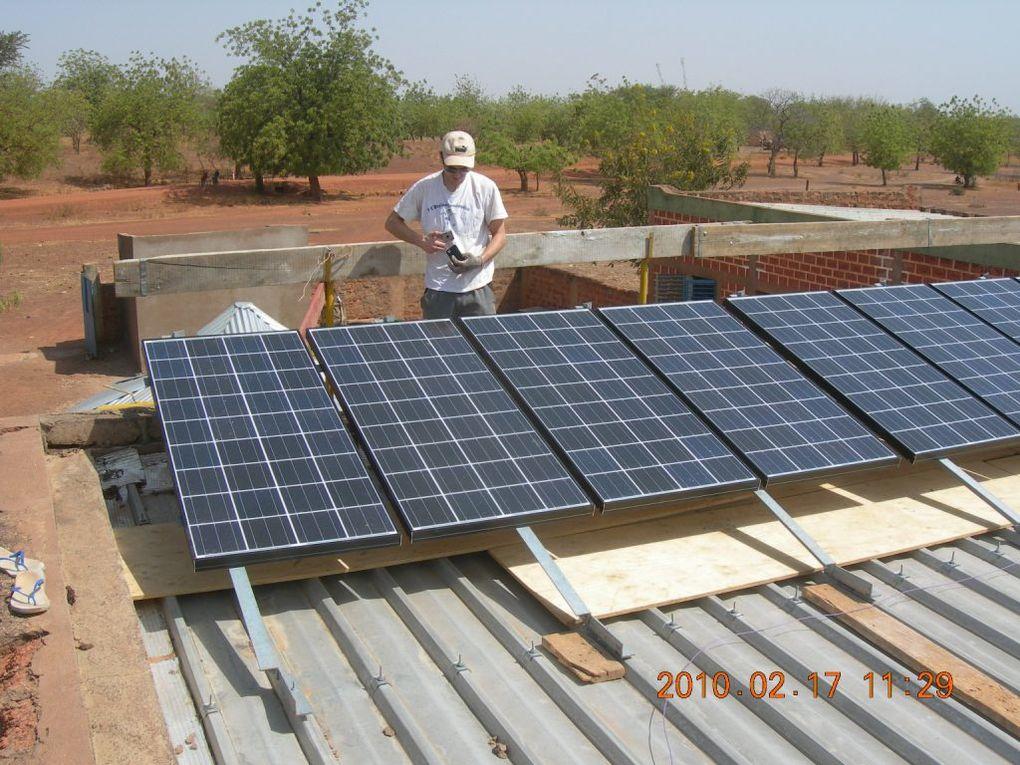 Installation d'éclairage par générateur photovoltaïque
