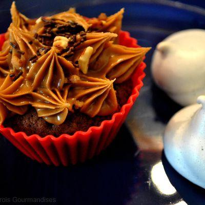 Cupcake Chocolat/ Spéculoos et meringues à la framboise