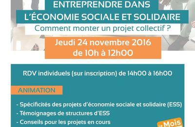 ESS : un café-projets jeudi 24 novembre