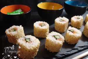Makis californiens au gravelax de saumon