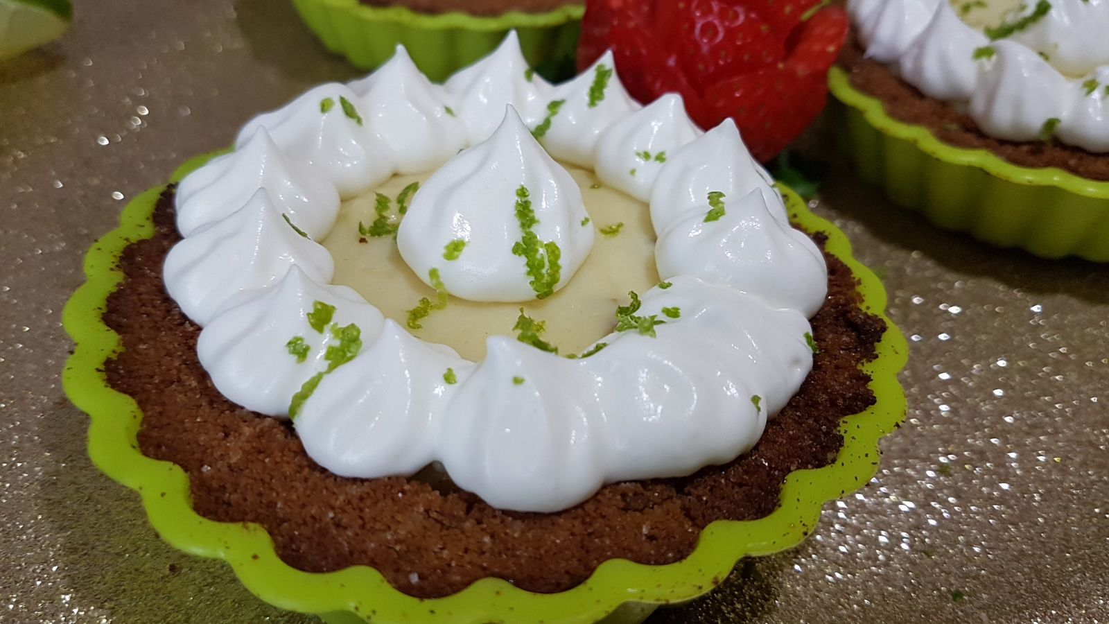 Mini key lime pies (tartelettes au citron vert)