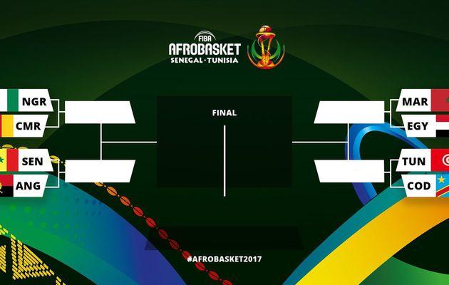 Afrobasket (1/4 de finale) : Nigéria-Cameroun, Sénégal-Angola, Maroc-Égypte et Tunisie-RD Congo