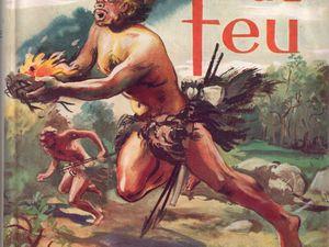 """J.-H. Rosny aîné """"La Guerre du feu"""" (Gedalge - 1950) [grand cartonnage beige]"""