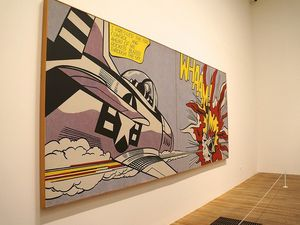"""""""Whaaam"""", Roy Lichtenstein , 1963, 140 x 400 cm, Tate Modern, Londres"""