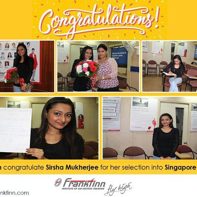 Frankfinn congratulates students for their placements in International Airlines