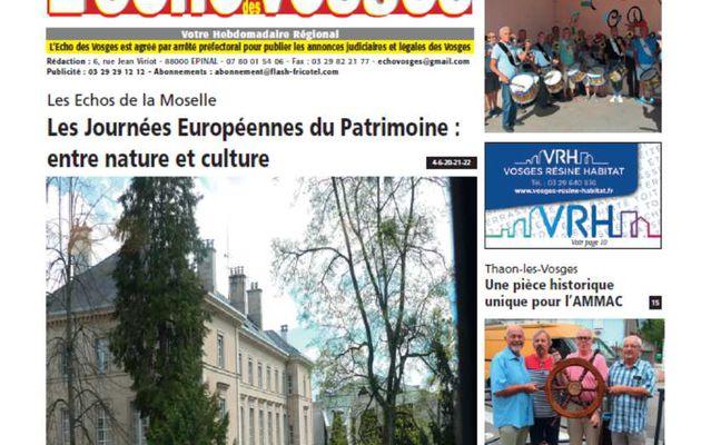 L'Echo des Vosges Edition d'Epinal - Les titres de la semaine