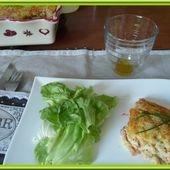 Clafoutis au râpé de jambon et Cheddar - Oh, la gourmande..