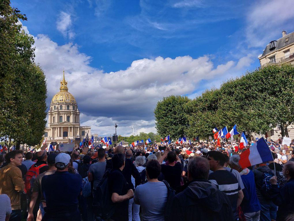 Manifestation du 7 août à Paris