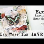 USE WHAT YOU HAVE ! - Leftovers Mixed Media Card ✂️ Maremi's Small Art