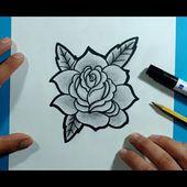 Como dibujar una rosa paso a paso 19 | How to draw a rose 19