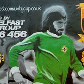 Work stops on UVF mural that replaced George Best artwork - BBC News