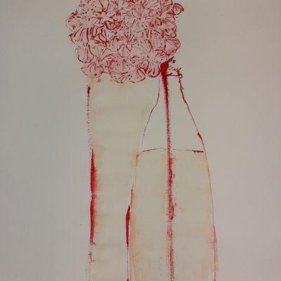 """En cours """" Les débordements du vase """" par quatre saisons. Ici, l'automne"""