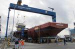 Bridge installation a milestone for UK carrier build
