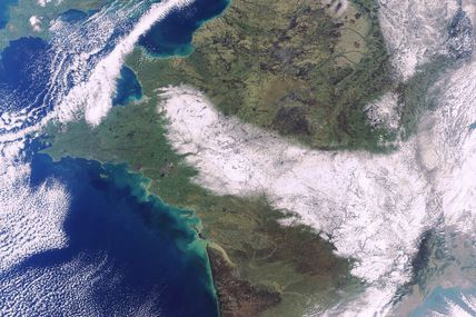 La neige en France vue par le satellite Envisat