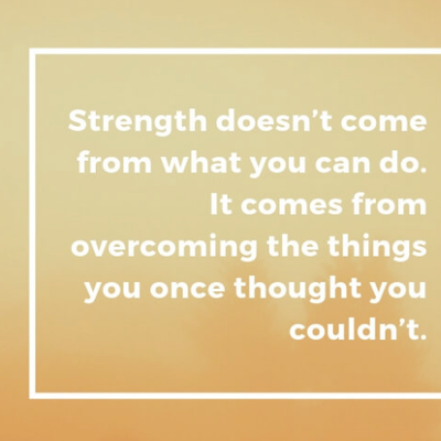 Shahzaad Ausman - Strength doesn't come from what you can do