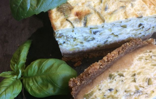 cheesecake courgette et basilic