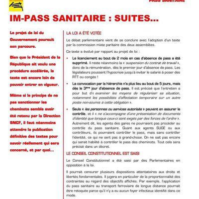 Informations pass sanitaires contrôles et sanctions