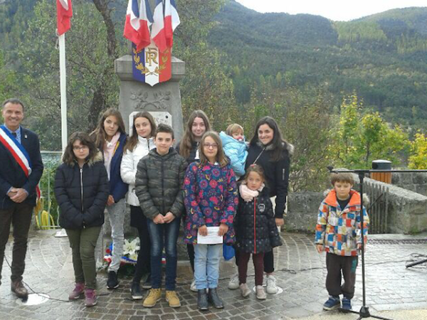SAINT JULIEN DU VERDON CEREMONIE COMMEMORATIVE DU 11 NOVEMBRE